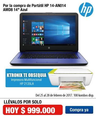 OFER KT - Portátil HP 14-AN014 AMD8 14