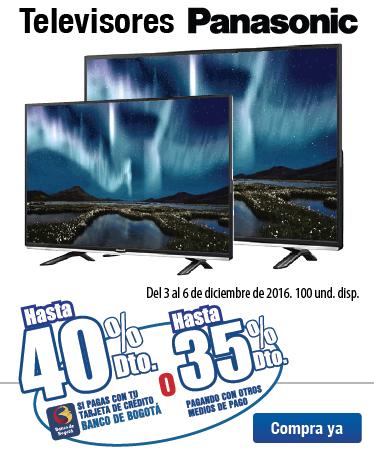 Hasta 40% Dto en TV Panasonic Bta