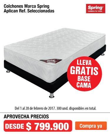 OFER AK - Lleva gratis base cama en colchones spring- feb22