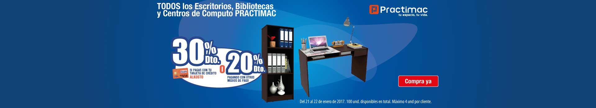 HIPER AK- 30% dto TCA 20% CMP en escritorio bibliotecas centros de computo practimac - ene21