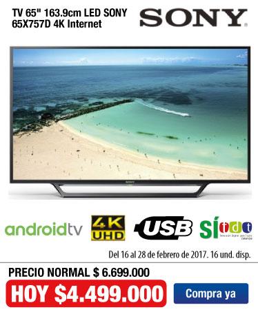 OFER KT- TV Sony 65X757D - Feb 22