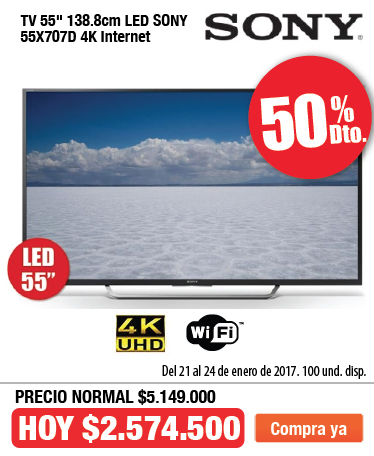 OFER AK Tv SONY 55X707 Ene 21