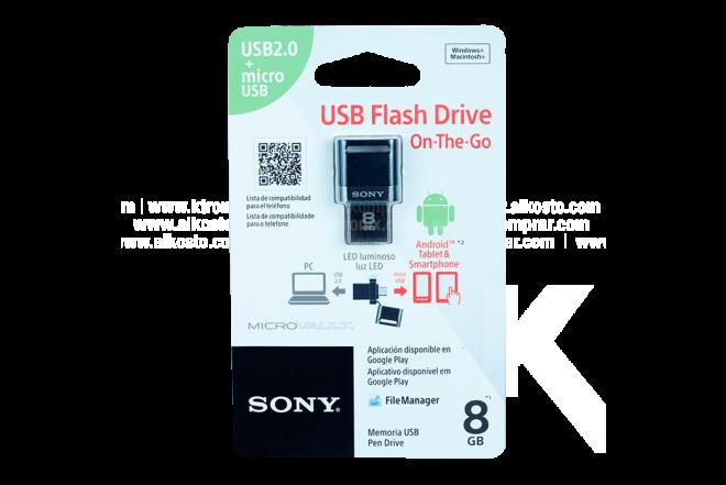 Memoria USB SONY Smartphone 8GB Negro