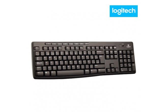 Combo LOGITECH Teclado analógico Alfanumérico + Mouse Óptico Negro
