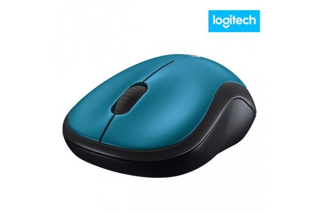 Mouse LOGITECH Inalámbrico Óptico Azul M185