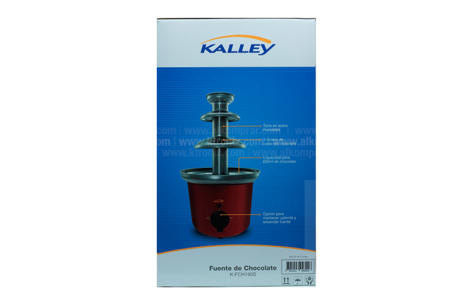 Fuente Chocolate Acero KALLEY K-FCH190S