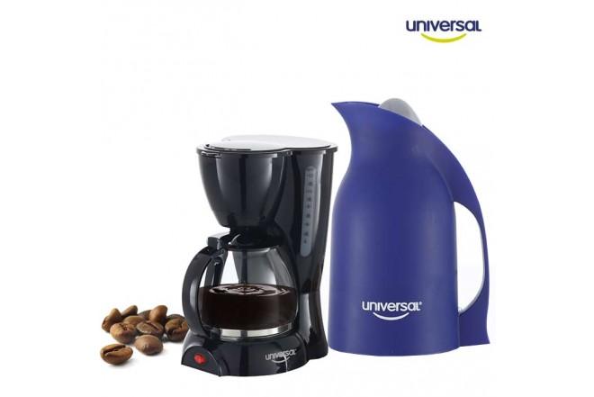Kombo UNIVERSAL Cafetera Eléctrica 10 Tazas + Jarra Azul