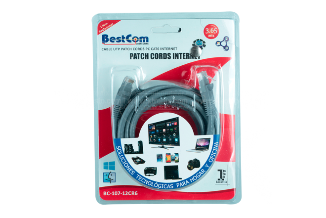 Cable de Red UTP CAT63 3.65 mt