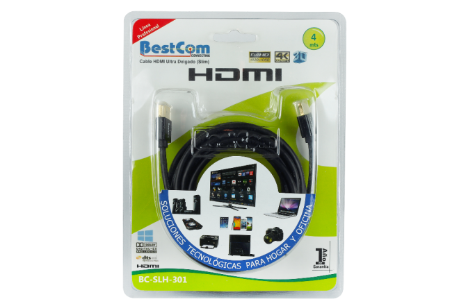 Cable BESTCOM HDMI Full HD Slim (Accesorios de Video)