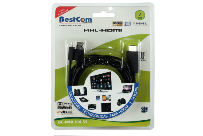 Cable BESTCOM MHL a HDMI Full HD 2.0 (Accesorios)