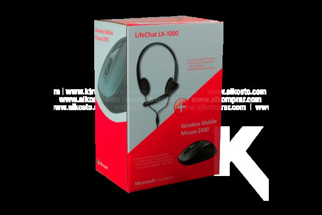 Combo MICROSOFT Diadema LX1000 + Mouse Wireless Mobile 2000