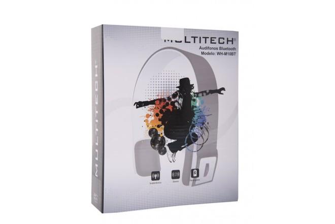 Audífonos MULTITECH OnEar Inalanbricos Bluetooth Negros