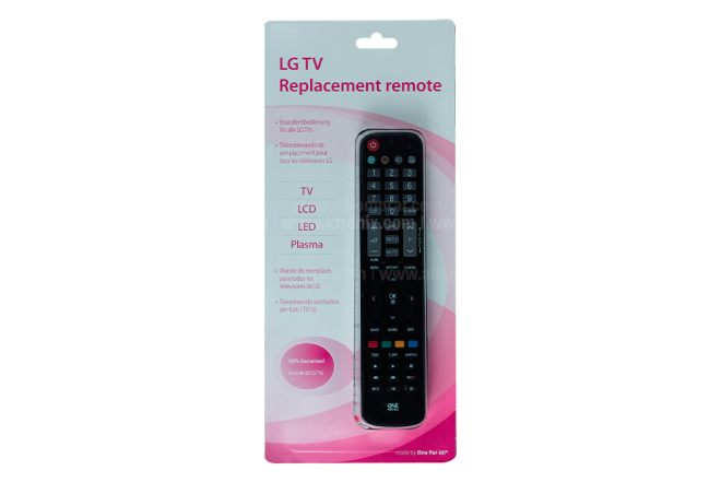 Control Remoto One For All Compatible LG Negro