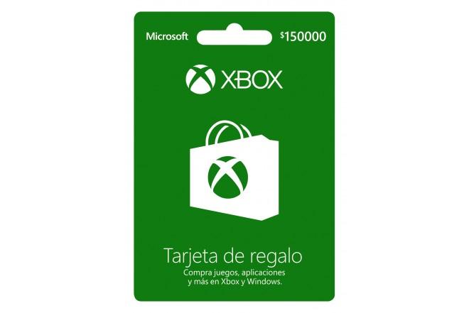 Tarjeta Regalo XBOX  $150.000