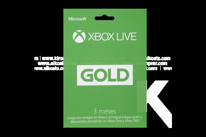 Tarjeta XBOX LIVE 3 meses