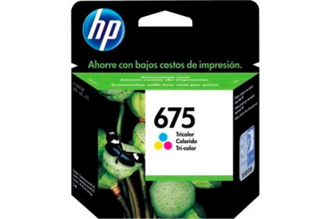 Cartucho HP 675 Tricolor