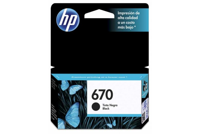 Cartucho HP 670 Black Ink
