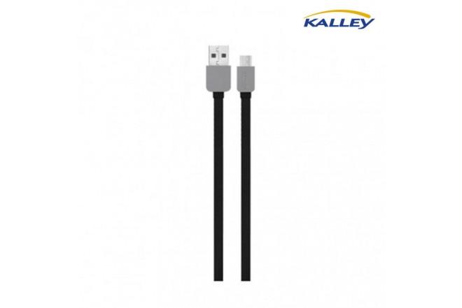 Cable USB/Micro USB Kalley Negro 1 Metro