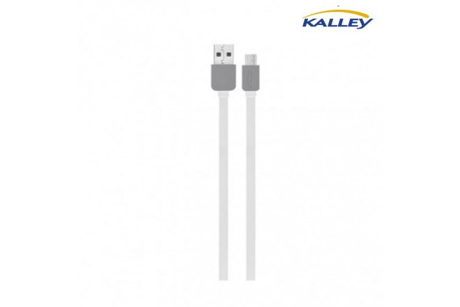 Cable USB/Micro USB Kalley Blanco 1 Metro