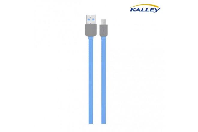 Cable USB/Micro USB Kalley Azul 1 Metro