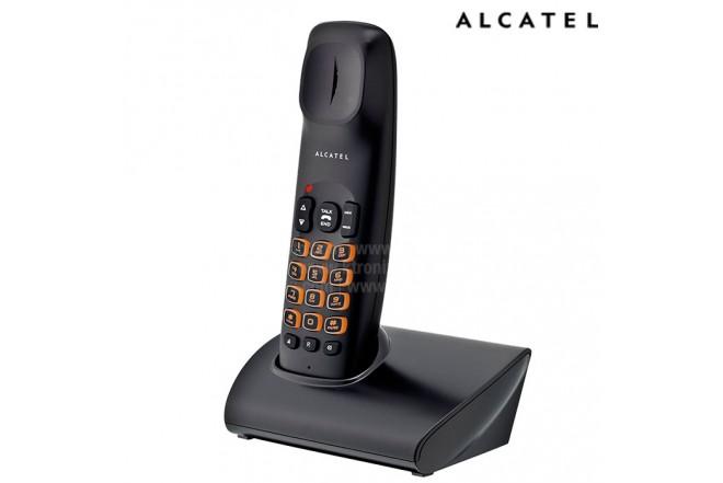 Kombo Teléfono ALCATEL Bilova A60 + Radio reloj RC250BK Negro
