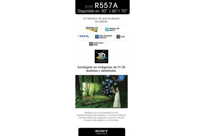 """TV 50"""" LED SONY 50R557A FHD 3D INTERNET (TV LED)"""
