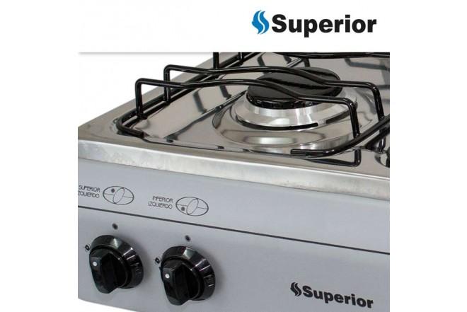 Estufa de mesa SUPERIOR 4 Puestos T.Gas Natural SG-7053 Gris