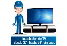 """Instalación de TV desde 40"""" hasta 58"""" sin base"""