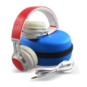 Diadema MARVO On Ear Alámbrica Stereo Roja