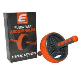 Rueda Abdominal Plus Naranja/Gris EVOLUTION