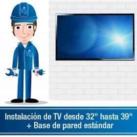 """Instalación de TV desde 32"""" hasta 39"""" + Base de pared estándar"""
