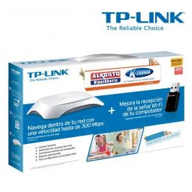 Combo TP-LINK Router Inalámbrico + Mini Adaptador N300