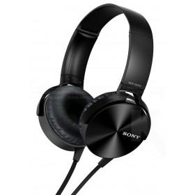 Audífonos SONY de diadema Extra Bass MDR-XB450 negros con manos libres