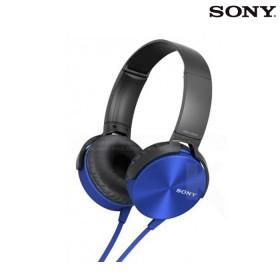 Audífonos SONY de diadema Extra Bass MDR-XB450 azules con manos libres