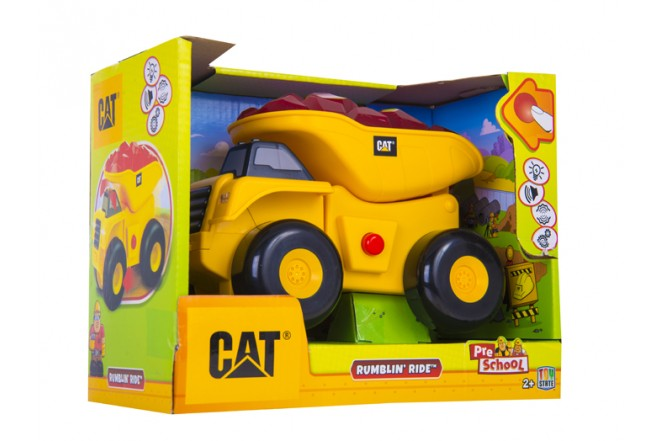 Volqueta Rumbling Ride CATERPILLAR TOY STATE Amarilla