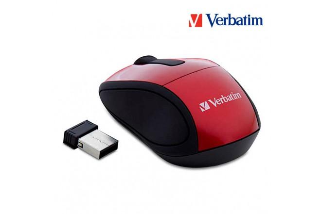 Mouse VERBATIM Inalámbrico Óptico Rojo