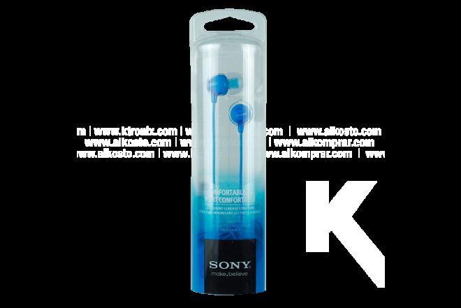 Audífonos SONY Alámbricos InEar EX15 Azul