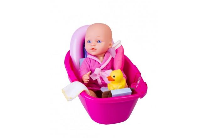 """Muñeca bebé set de baño Gigo Toys Dream collection 14"""" Rosada"""