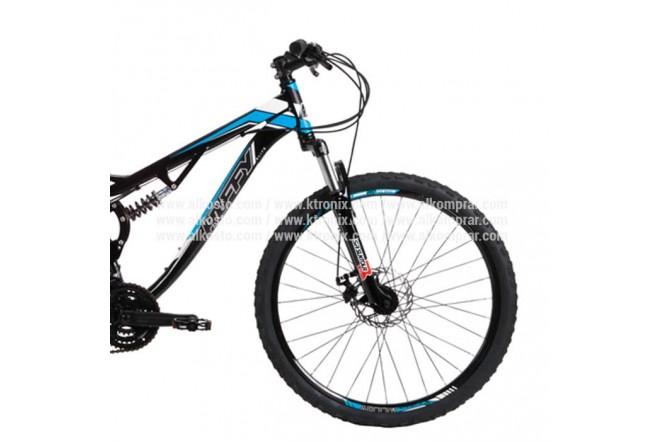 """Bicicleta de montaña HUFFY de 26"""" Negro/Azul"""