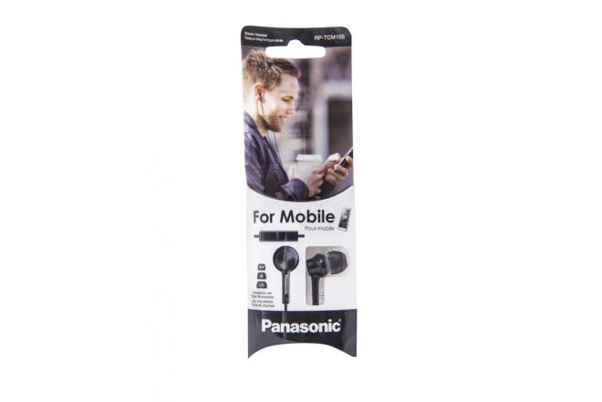 Audífonos PANASONIC Alambricos InEar RP-TMC105 Negro