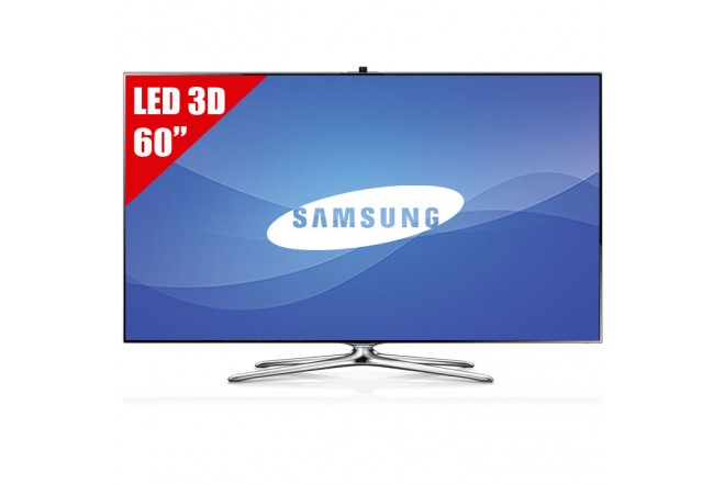 "TV 60"" LED SAMSUNG 60F7500 FHD 3D Internet"