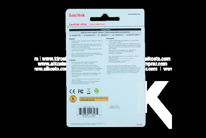 Memoria USB 2.0 16 GB SANDISK