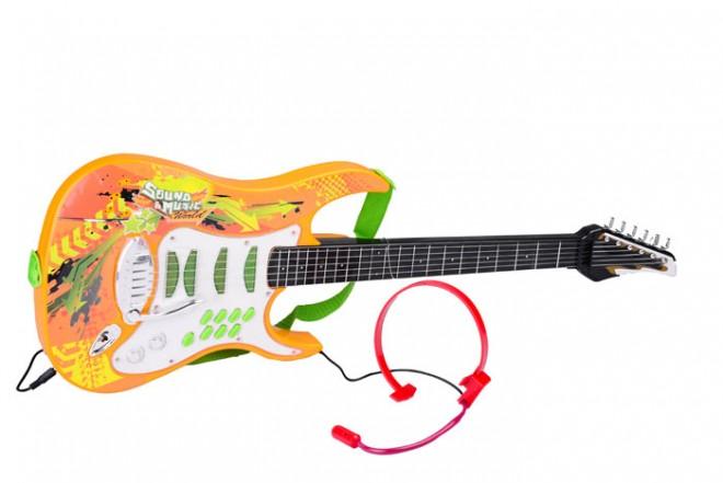 Guitarra con micrófono Happy Line Naranja