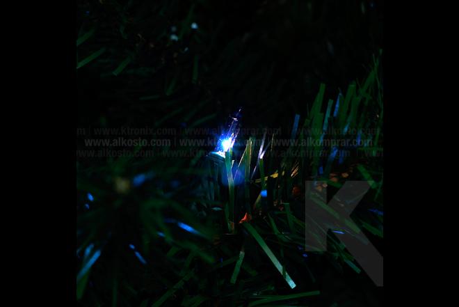 Luces Navidad Largos Azul x 100