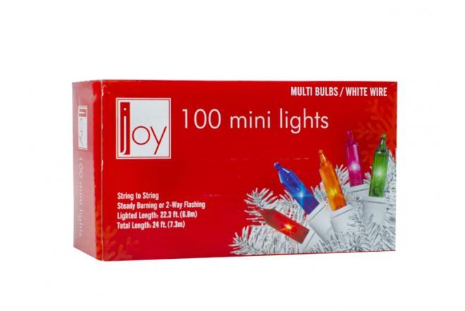 Luces Navideñas JOY 100 Bombillos de Colores