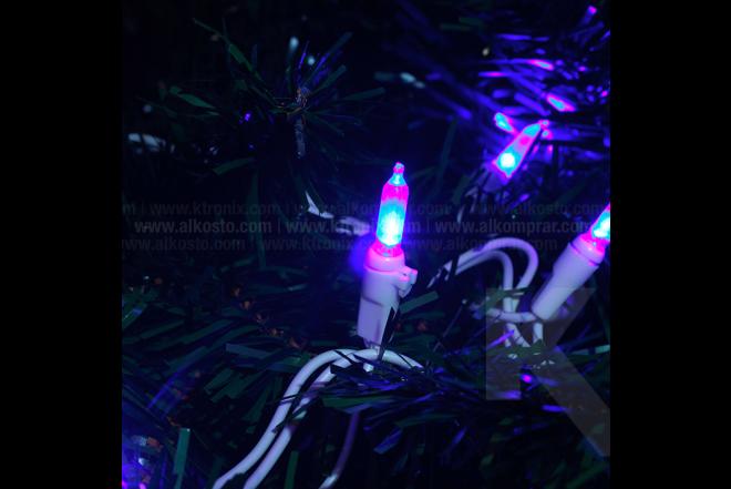 Luces Led 60 Bombillos Luz Azul