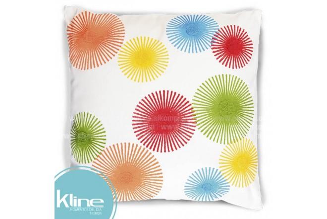 Cojín K-LINE Círculos Multicolor 45x45 cm