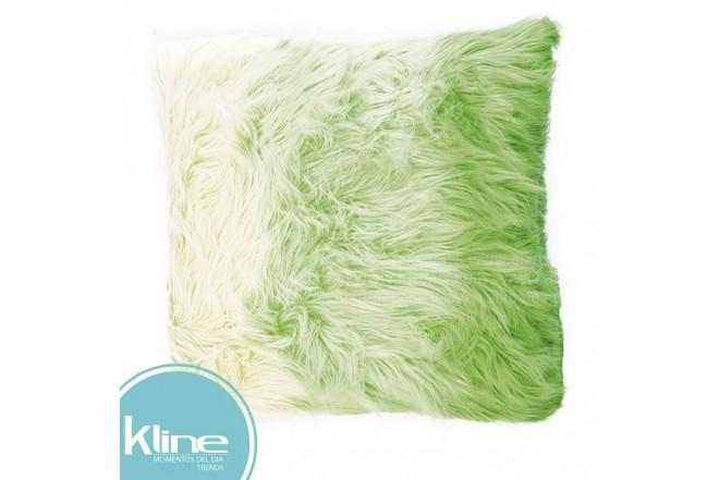 Cojín K-LINE Peludo Verde 50x50 cm