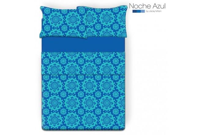 Juego de cama Doble NOCHE AZUL Angelo Azul 144 Hilos