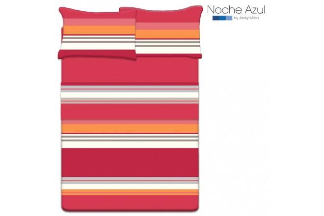 Juego de cama Doble NOCHE AZUL Ezequiel Rojo 144 Hilos